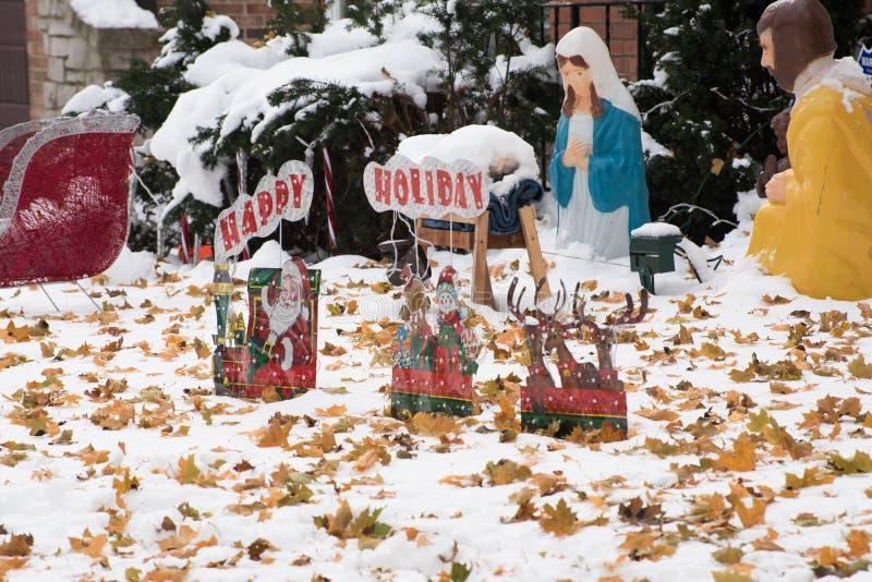 Äußere Weihnachtsdekorationen lizenzfreie stockfotografie