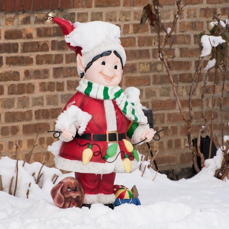 Äußere Weihnachtsdekorationen stockfotos