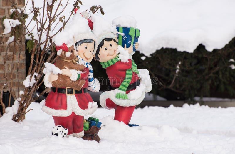 Äußere Weihnachtsdekorationen lizenzfreies stockbild