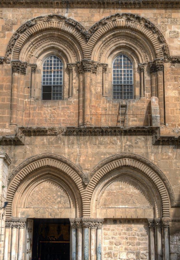 Äußeres der Kirche des heiligen Sepulchre stockbilder