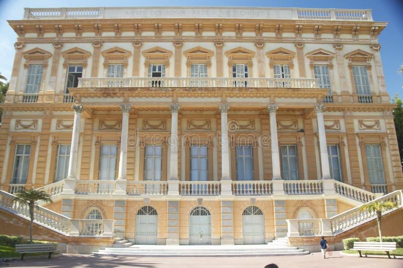 Äußeres der Musee DES-Galan-Künste, Nizza, Frankreich stockbilder