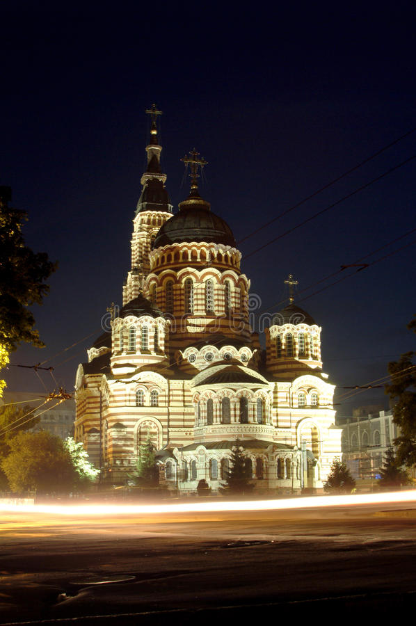 Äußeres der orthodoxen Kathedrale stockbild