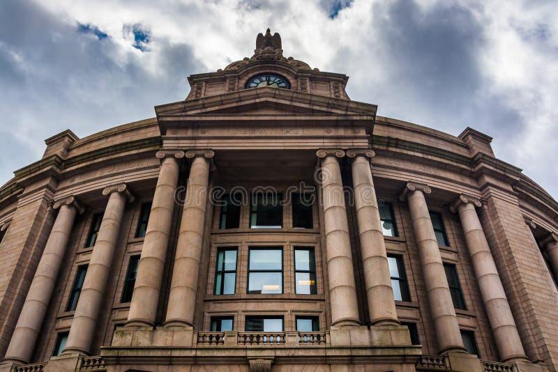 Äußeres der Südstation, in Boston, Massachusetts lizenzfreie stockfotos