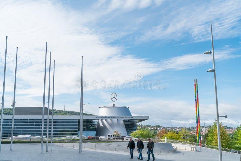 Äußeres von Architektur- moderner Mercedes Museum der Geschichte von stockfotografie
