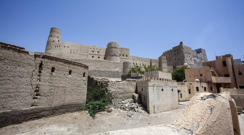 Äußeres von Bahla-Fort in Bahla, Oman, Mittlere Osten lizenzfreies stockbild