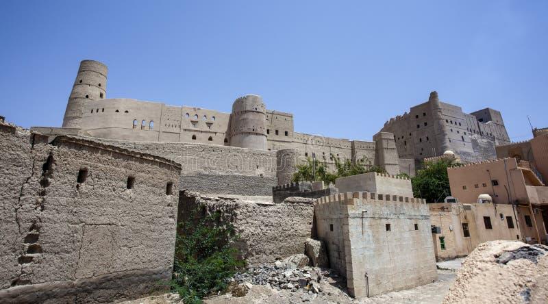 Äußeres von Bahla-Fort in Bahla, Oman, Mittlere Osten stockfoto