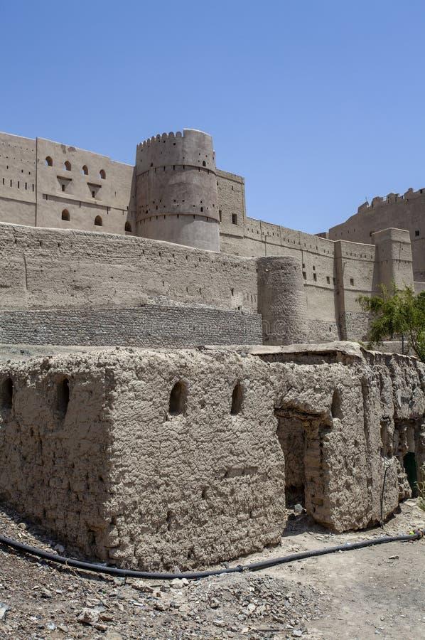 Äußeres von Bahla-Fort in Bahla, Oman, Mittlere Osten lizenzfreies stockfoto