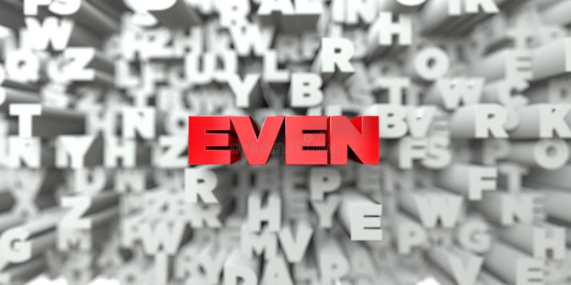 ÄVEN - Röd text på typografibakgrund - 3D framförde fri materielbild för royalty vektor illustrationer