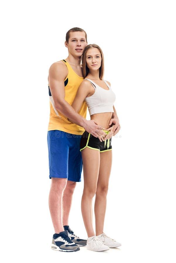 健康运动的夫妇 库存图片