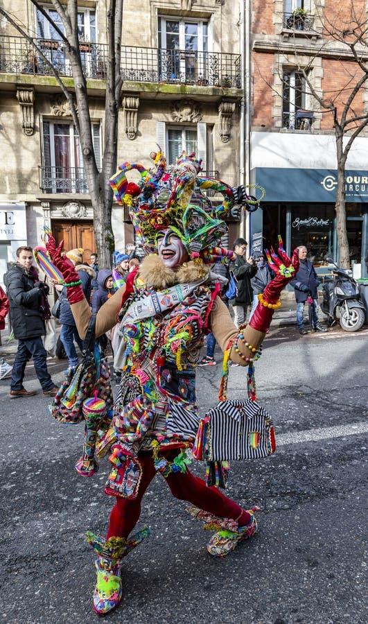 假装的人- Carnaval de巴黎2018年 免版税库存图片