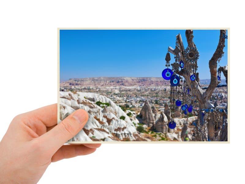 卡帕多细亚土耳其摄影在手中 库存图片