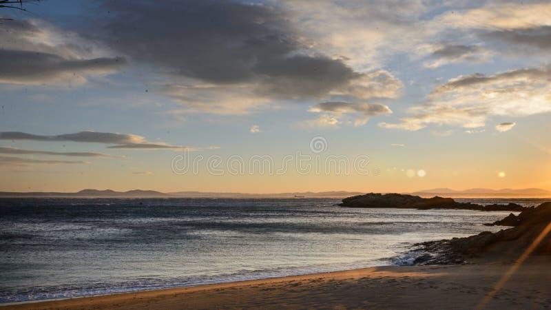 卡涅列斯Petites海滩,在肋前缘布拉瓦岛,西班牙的玫瑰 库存图片