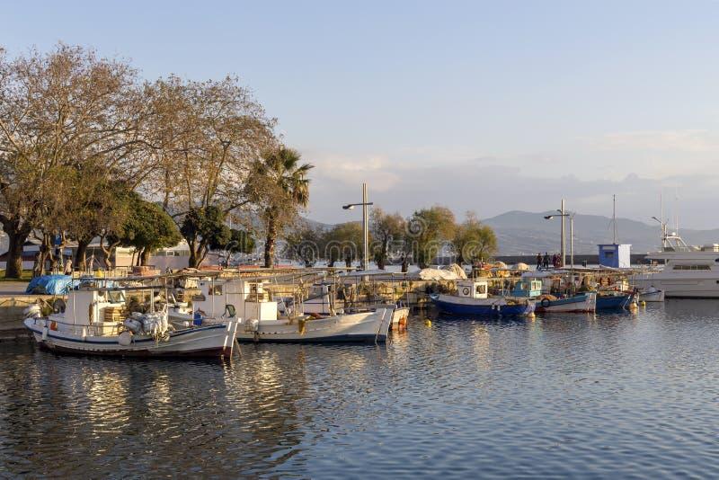 卡拉迈希腊,Messinia,伯罗奔尼撒专区的奎伊  免版税库存照片