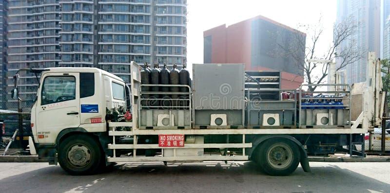 卡车运载的集气筒 图库摄影