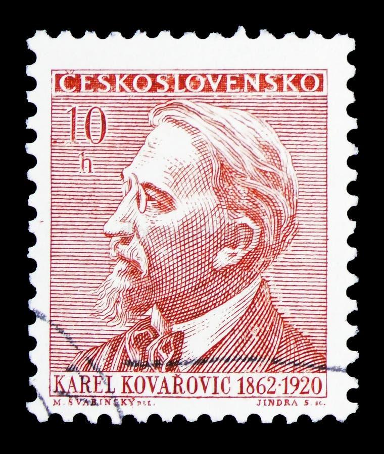 卡雷尔KovaÅ™ovic (1862-1920),周年文化形象serie,大约1962年 免版税图库摄影