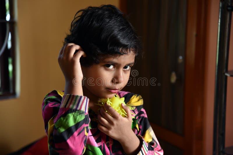 印第安语的女孩一点 免版税库存图片