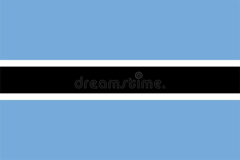 博茨瓦纳旗子 皇族释放例证