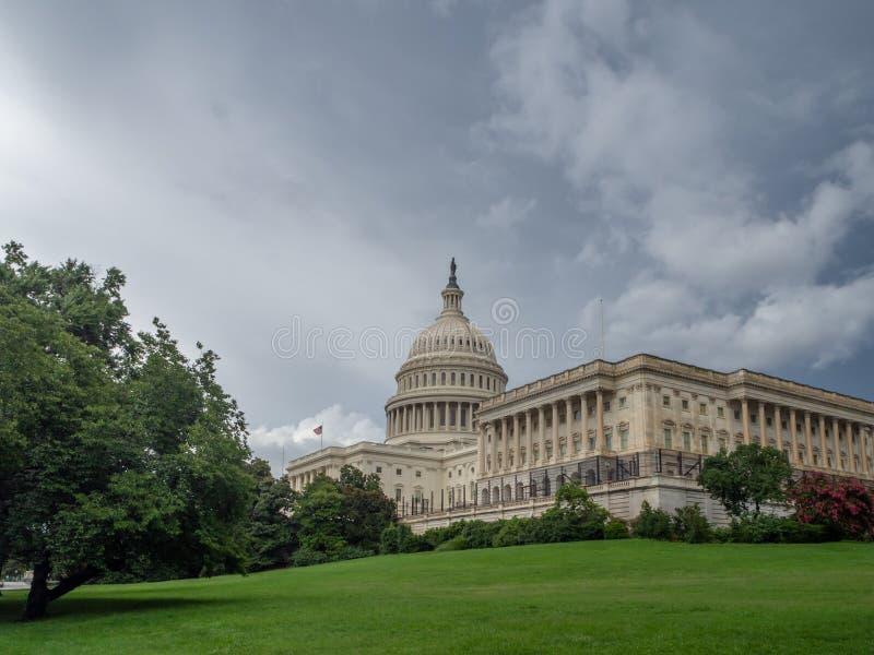 华盛顿特区,哥伦比亚特区[内部的美国国会大厦,联邦区域,旅游访客中心,圆形建筑与壁画 库存照片