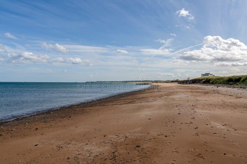 南海滩在布莱斯,英国,英国 库存图片