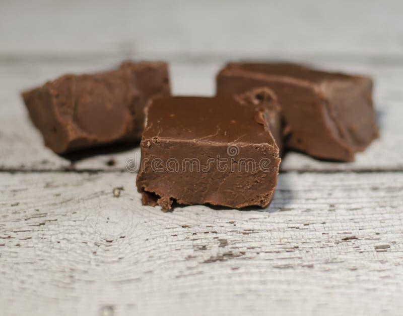 可口乳脂软糖糖果三个片断  免版税图库摄影