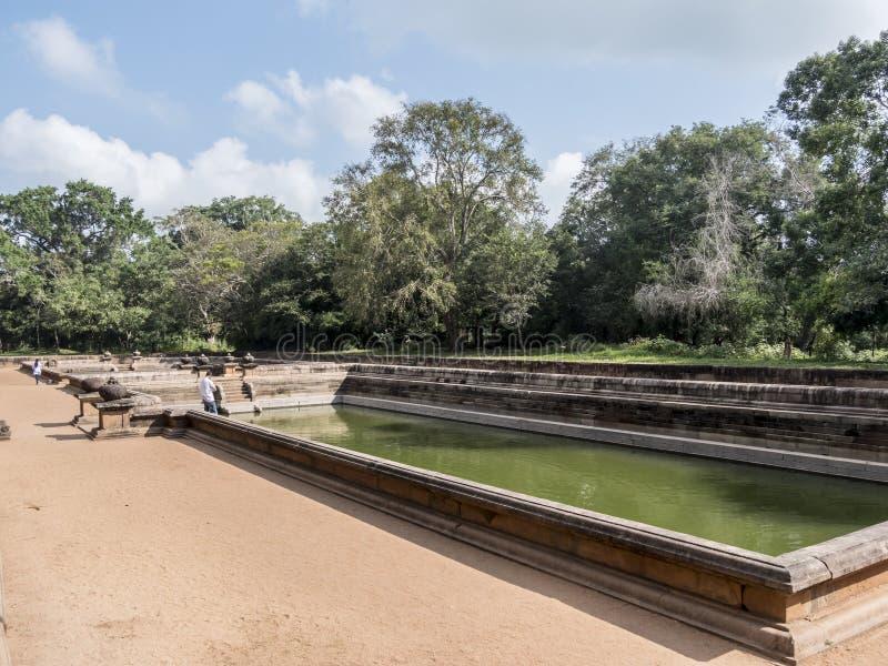 双池塘,Anuradhpura 免版税库存照片