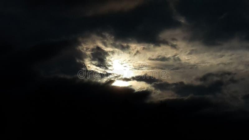 发光的月亮 库存图片