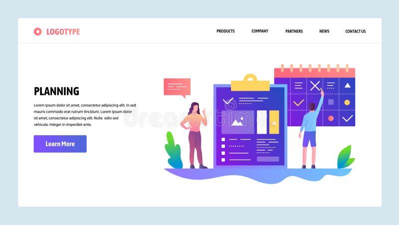 向量网站设计模板 任务经理和时间安排管理 网站和机动性的登陆的页概念 皇族释放例证