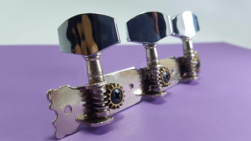 吉他通纳,由金属制成 免版税库存照片