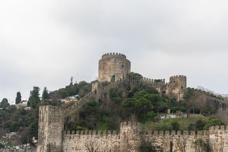 君士坦丁堡城墙,伊斯坦布尔,土耳其 库存照片