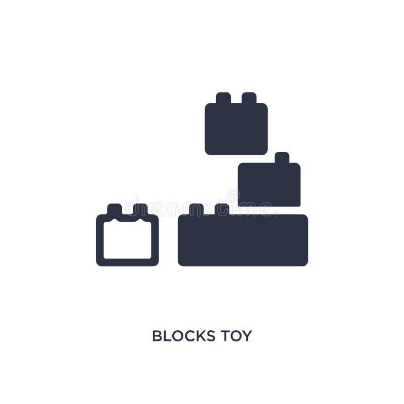块戏弄在白色背景的象 从玩具概念的简单的元素例证 库存例证