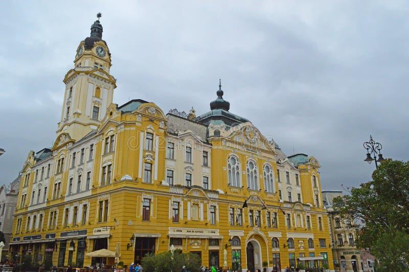 塞切尼特尔或大广场佩奇匈牙利在佩奇,匈牙利 库存图片
