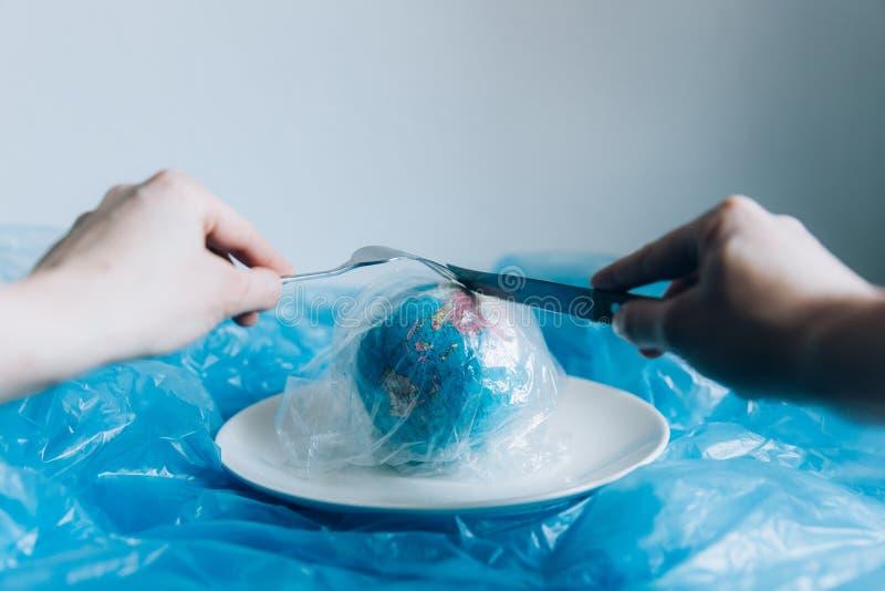 塑料污染 库存例证