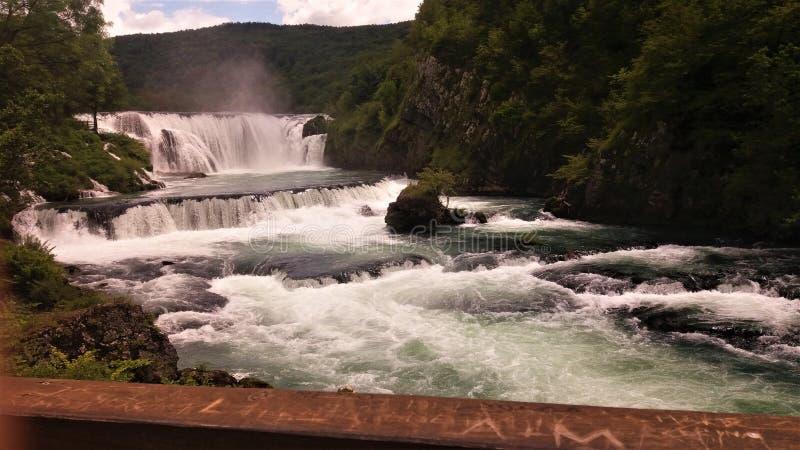 Štrbački buk, river `Una`, Bosnia and Herzegovina royalty free stock image