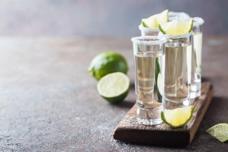 墨西哥金子龙舌兰酒 库存照片
