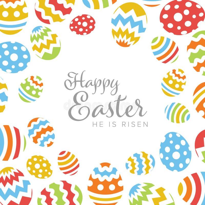 复活节快乐-最低纲领派五颜六色的复活节卡片 向量例证