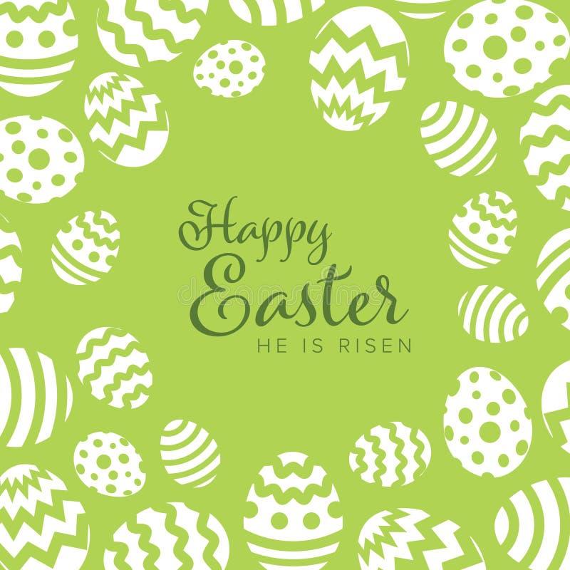 复活节快乐-最低纲领派复活节卡片 库存例证