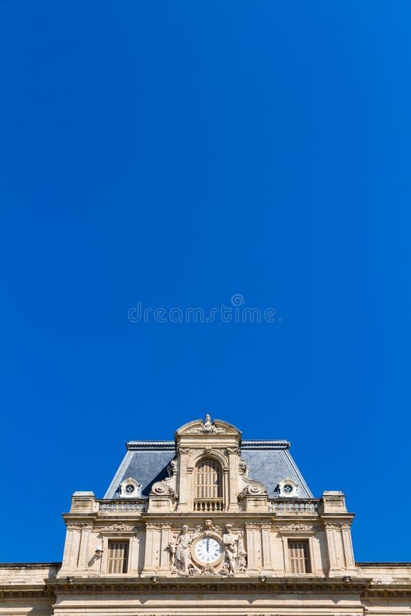 大厦的门面在蒙彼利埃,法国告诉了prefecture de l'herault 图库摄影