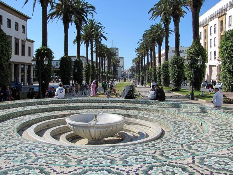 大道穆罕默德v在拉巴特,摩洛哥 库存照片
