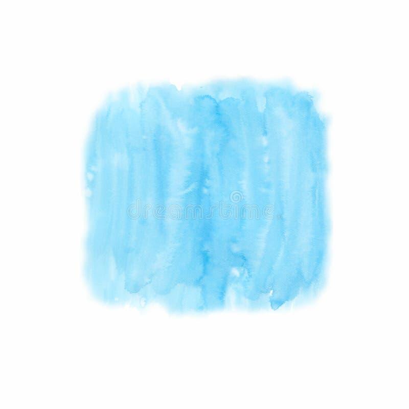 天蓝色纹理和背景的水彩背景 湿的背景 蓝色 手画水彩背景 水彩 皇族释放例证