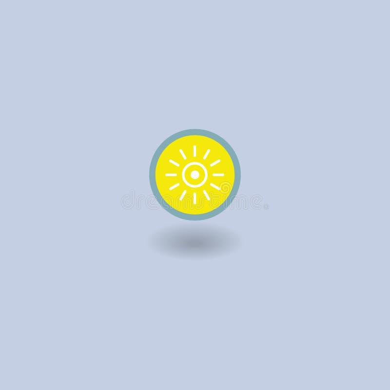 太阳象 天气 也corel凹道例证向量 向量例证