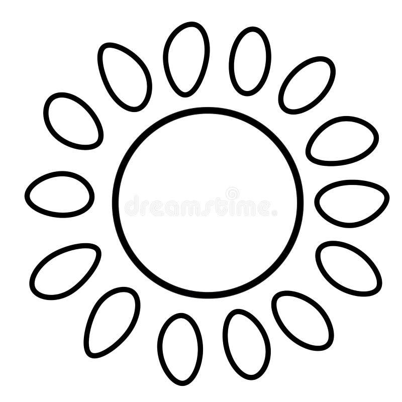 太阳象 线艺术 奶油被装载的饼干 社会媒介象 到达天空的企业概念金黄回归键所有权 标志,标志,网元素 纹身花刺模板 网站 库存例证