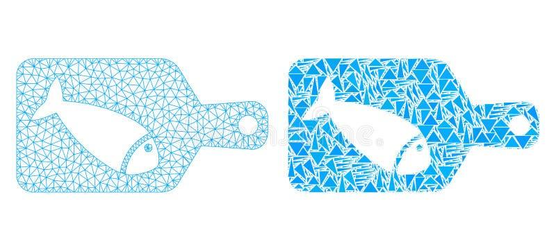 多角形第2个滤网切鱼委员会和马赛克象 皇族释放例证