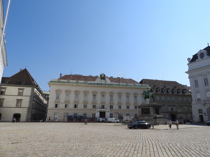 奥地利,维也纳,大厦石墙精妙的建筑学  图库摄影