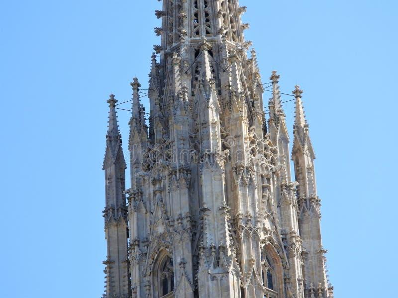 奥地利,维也纳,大厦石墙精妙的建筑学  免版税库存图片