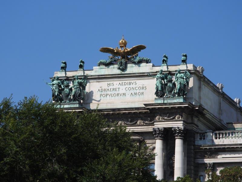 奥地利,维也纳,大厦石墙精妙的建筑学  免版税库存照片