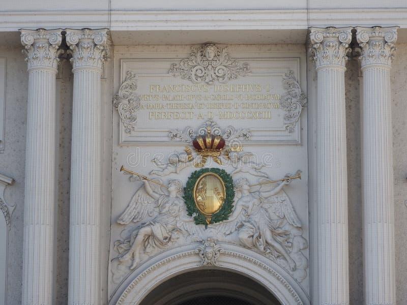 奥地利,维也纳,大厦石墙精妙的建筑学  库存照片