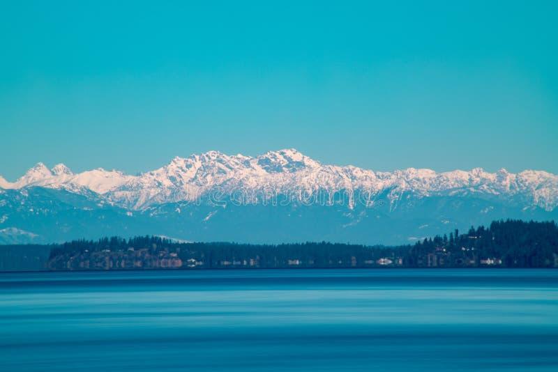 奥林匹亚山的长的曝光 免版税库存照片