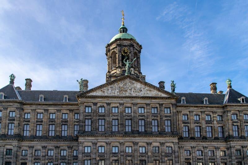 奥斯陆王宫,阿姆斯特丹,荷兰 免版税库存照片