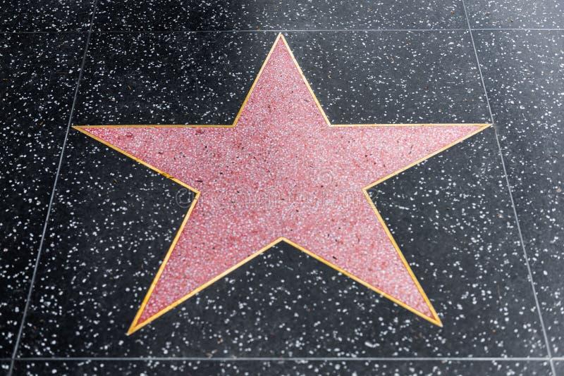 好莱坞星光大道空白星 库存照片