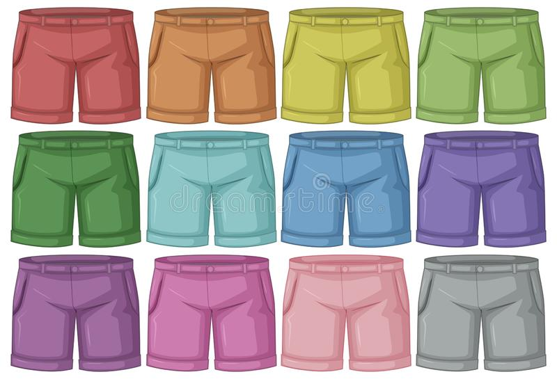 套不同的裤子 向量例证